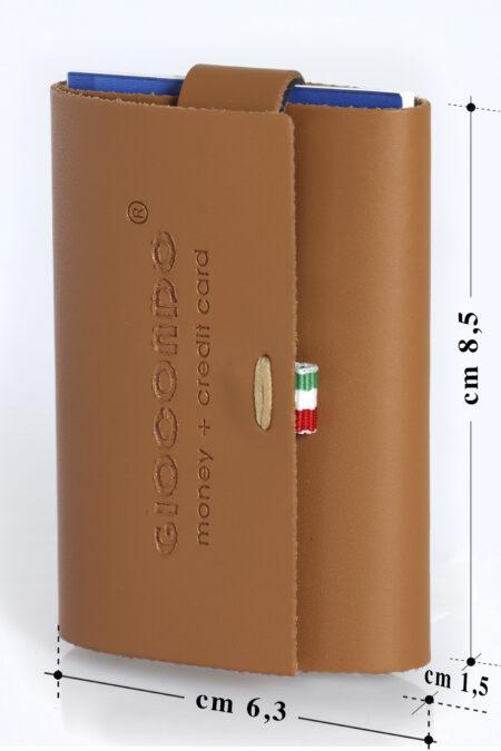 Money/Card Liscio Seta marrone chiaro