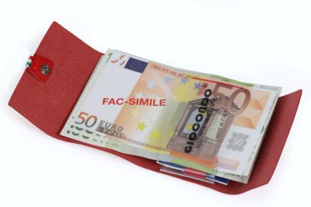Money/Card Liscio Seta rosso