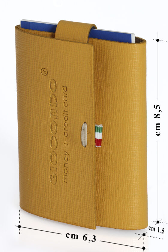218 GIOCONDO Money/Card Pelle ruvida saffiano giallo  scuro