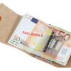 227_RUVIDO 222 Ruvido Money Card saffiano noce marrone
