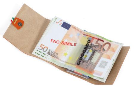Ruvido Money Card saffiano noce marrone
