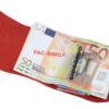 228_RUVIDO 222 Ruvido Money Card saffiano rosso bordeaux