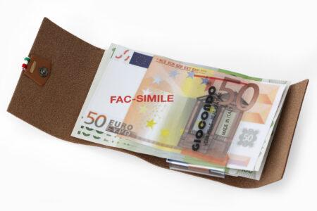 222 Ruvido Money Card saffiano nero carbone